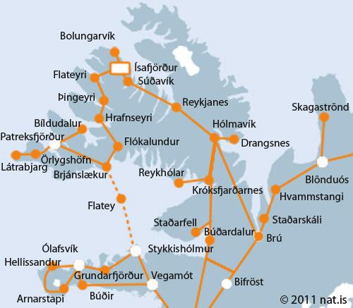 Scheduled Buses Patreksfjordur Bildudalur Talknafjordur